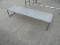 Gantry shelf in stainless steel