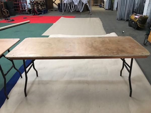 Wooden 6ft Trestle Table