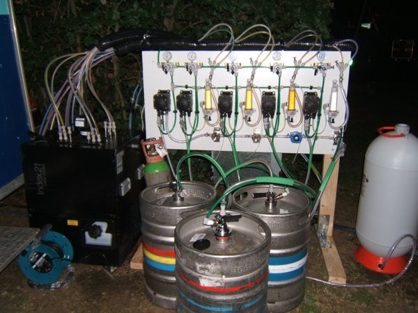 4 Way Line Beer Dispenser