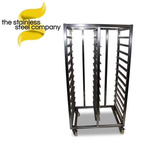 Stainless steel tray shelving