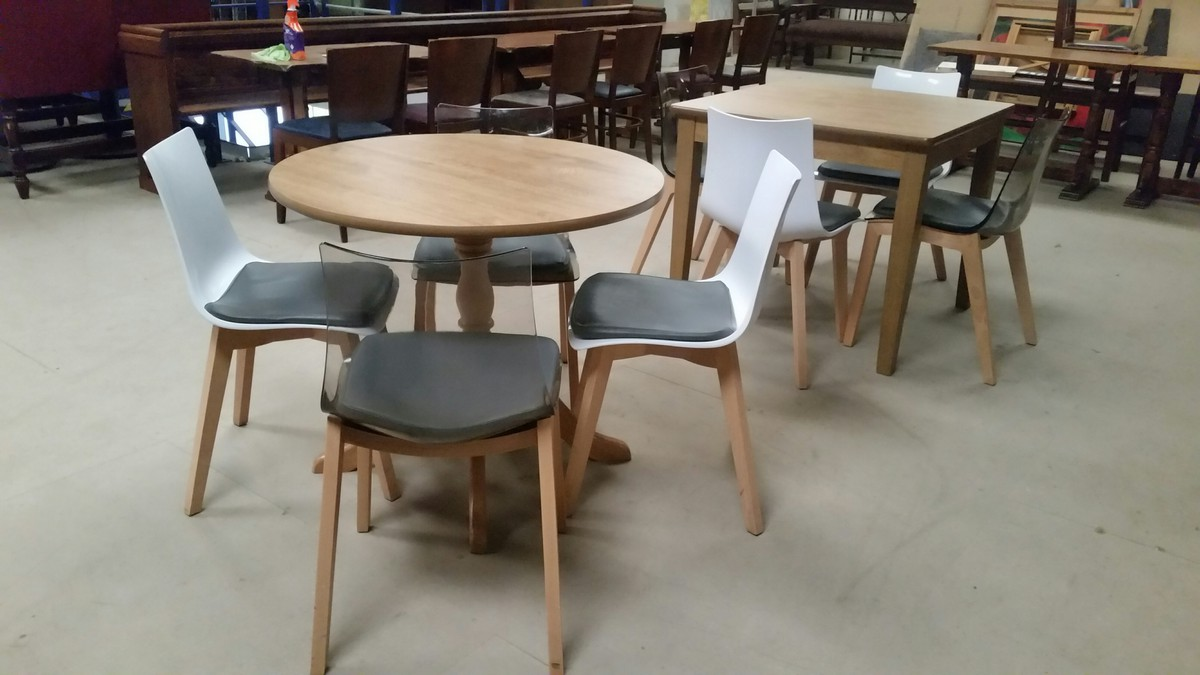 restaurant table and chairs ... & Secondhand Chairs and Tables | Restaurant Chairs | 9x Modern Table ...