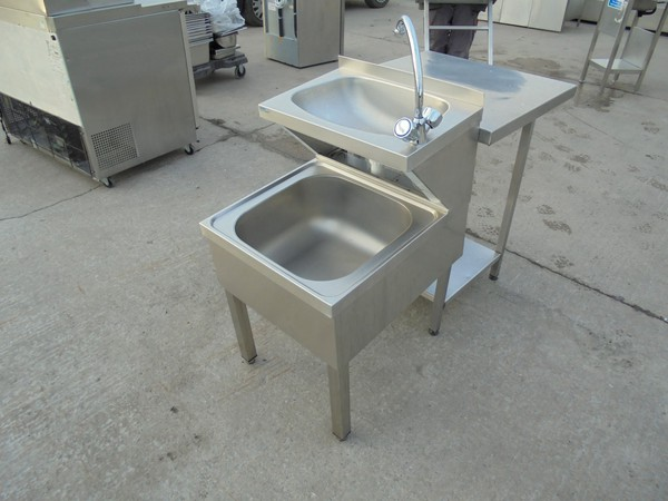 Used steel janitor sink