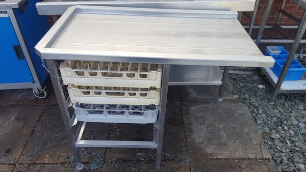 Stainless Steel Side Table For Pass Through Dishwasher