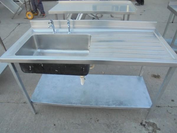 Single steel sink