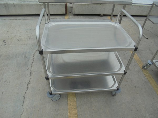 Used Stainless Steel 3 Tier Trolley (5846)