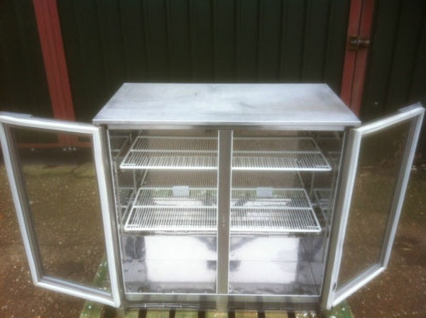 Stainless Steel Double Door Bar Fridge