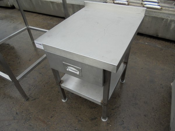 Used Stainless Steel Low Table (5875)