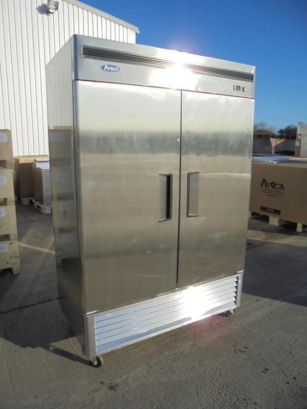 New B Grade Atosa MBF 8187 Stainless Steel Double Door Upright Fridge