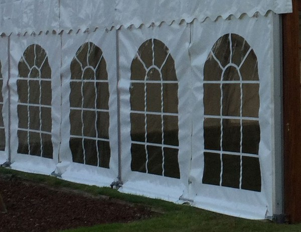 PVC Georgian Windows 2.3m x 3m to fit Clearspan Marquee