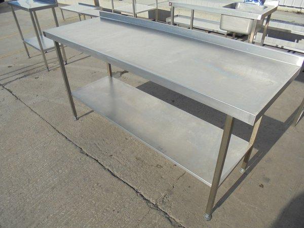 1.8m stainless steel table