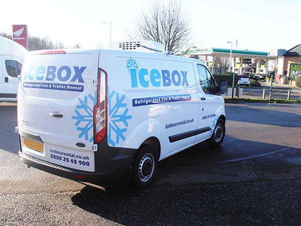 Ford custom freezer van