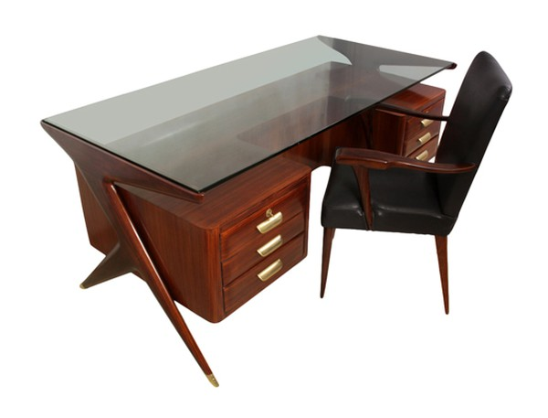 Midcentury desk and chair