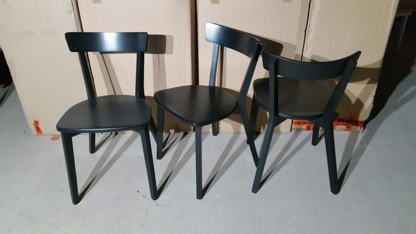 Wooden seated chairs