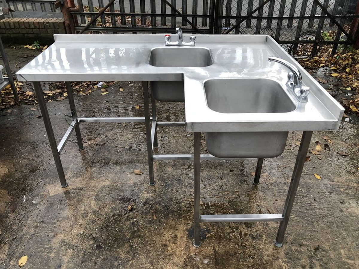 Secondhand Catering Equipment Corner Sinks Stainless Steel Corner Sink Unit Sheffield South Yorkshire