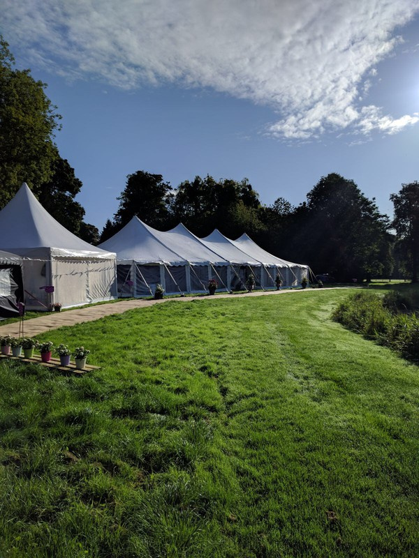 curved roof traditional marquee