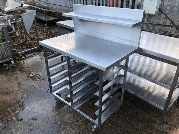 Steel table with shelf UK