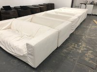 6x White Sofas - Covers Need Cleaning, Originally From IKEA - Ex Hire - London