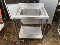 Steel sink unit