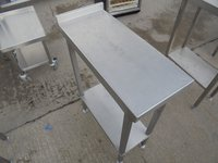 Steel infill table