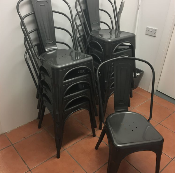 Gunmetal chairs