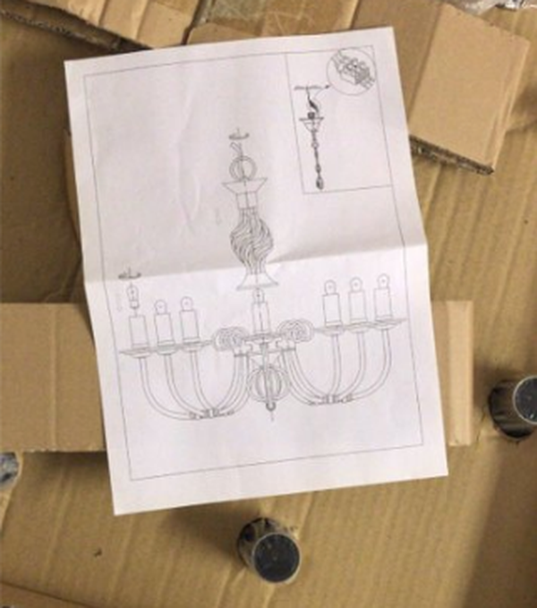Chandelier for marquee