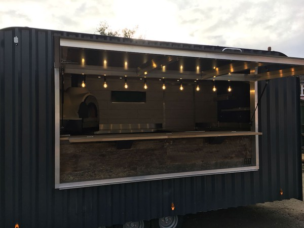 bespoke wood fired pizza trailer