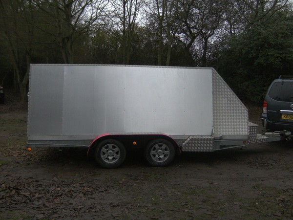 14Ft Alloy Transporter 2600Kg Shuttle / Box Trailer