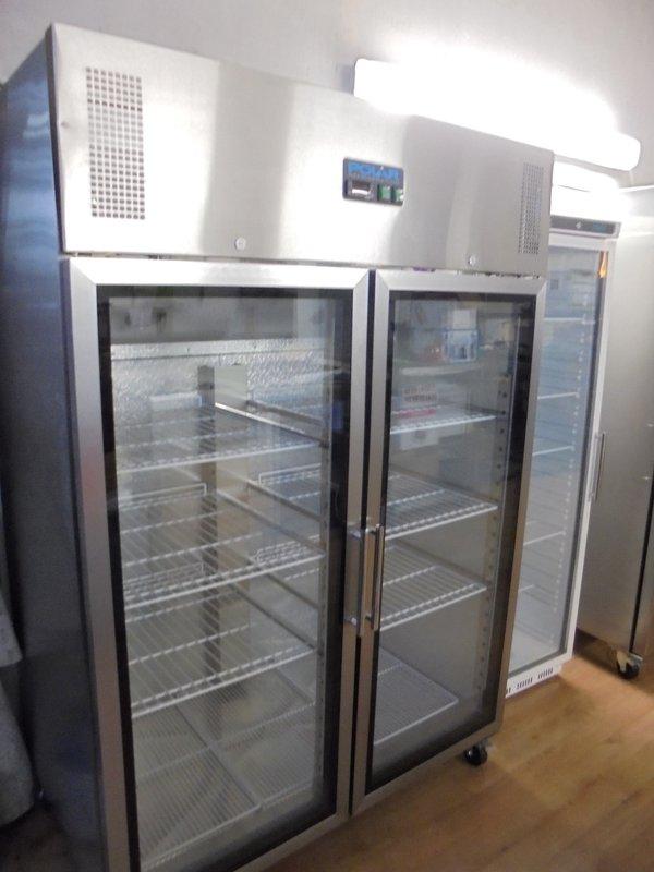 Commercial glass fridge