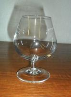 Used brandy glasses