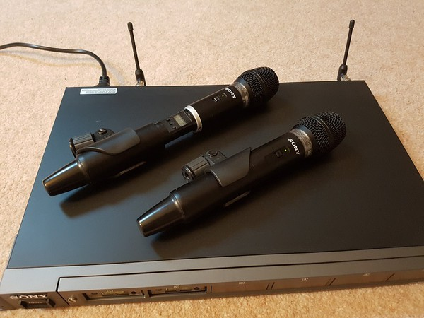 Secondhand sony microphone system