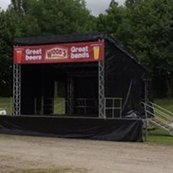 6m x 6m Trailer Stage with Sloping Roof