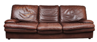 Used leather sofa