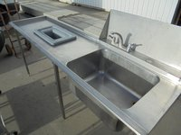Single sink with  Waste hole in drainer