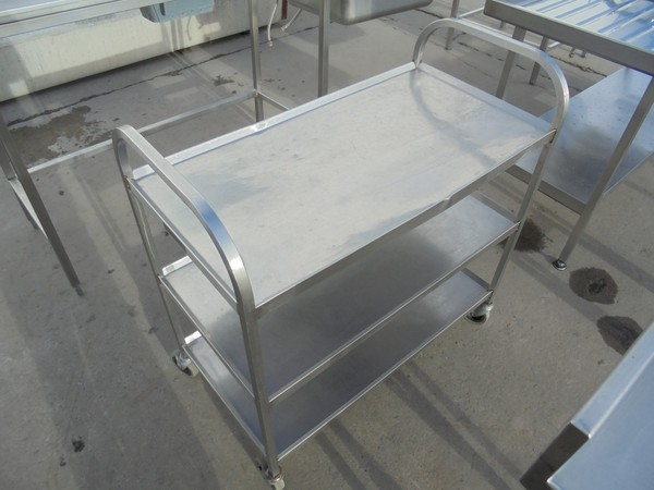 Stainless Steel 3 Tier Trolley (6033)