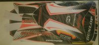 Octane Kart Sticker Cadet Full Kit Black Orange