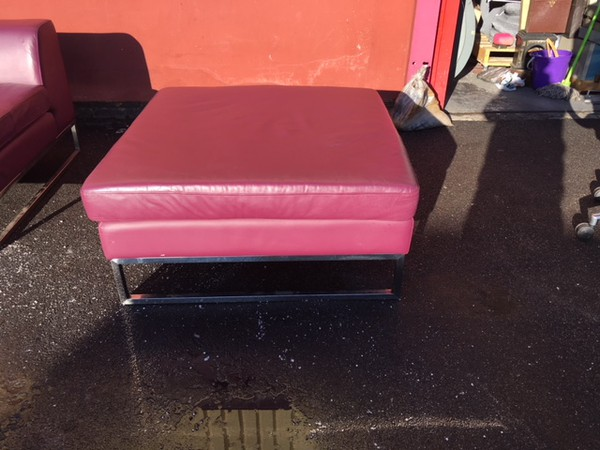 Secondhand leather sofa