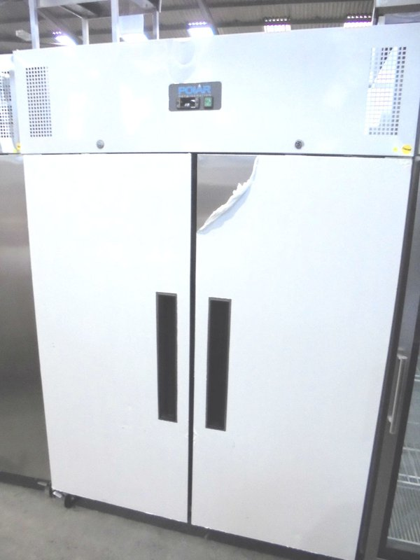 Upright double door freezer