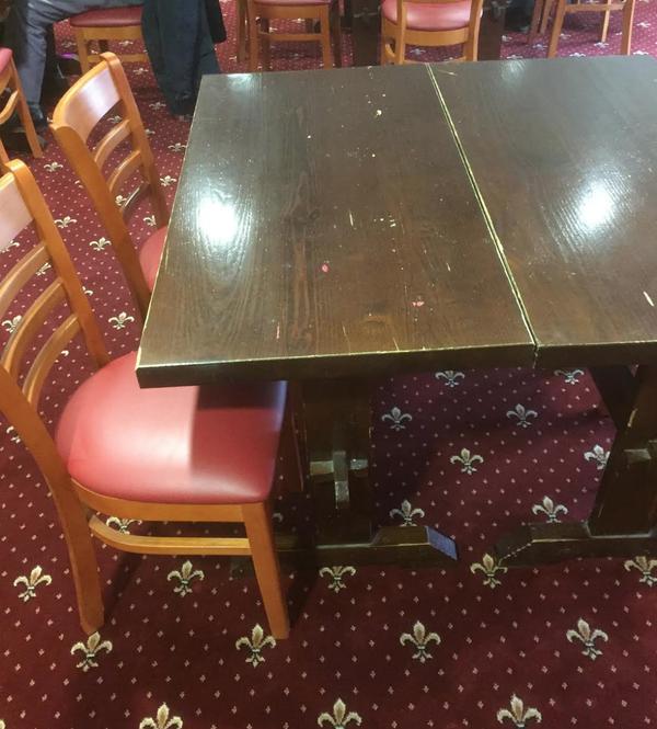 Secondhand pub tables