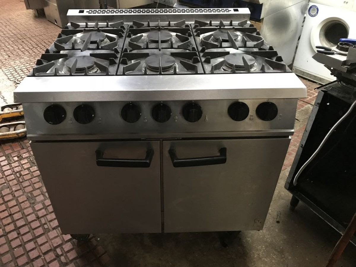 Secondhand Catering Equipment Gas Oven 6 Grid Falcon