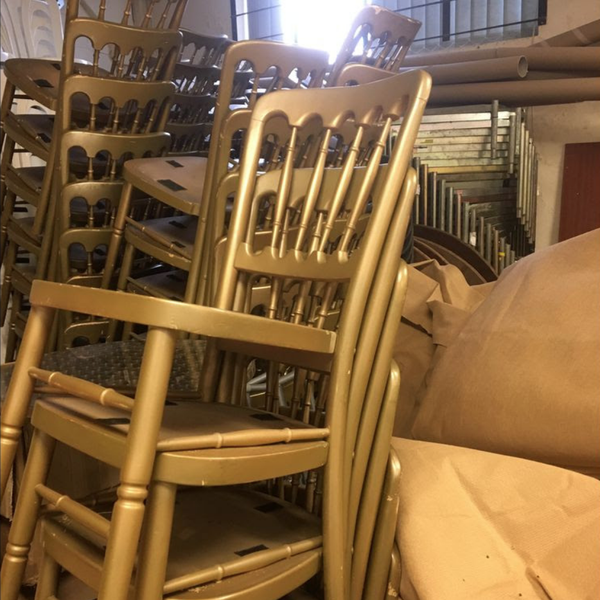 Gold banquet chairs for sale