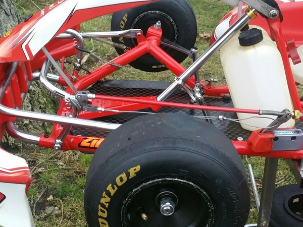 Zip Eagle Cadet Kart Full Rolling Chassis in Red team colours