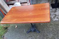Cast iron tables