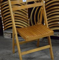 Vintage Wooden Folding Event Chairs