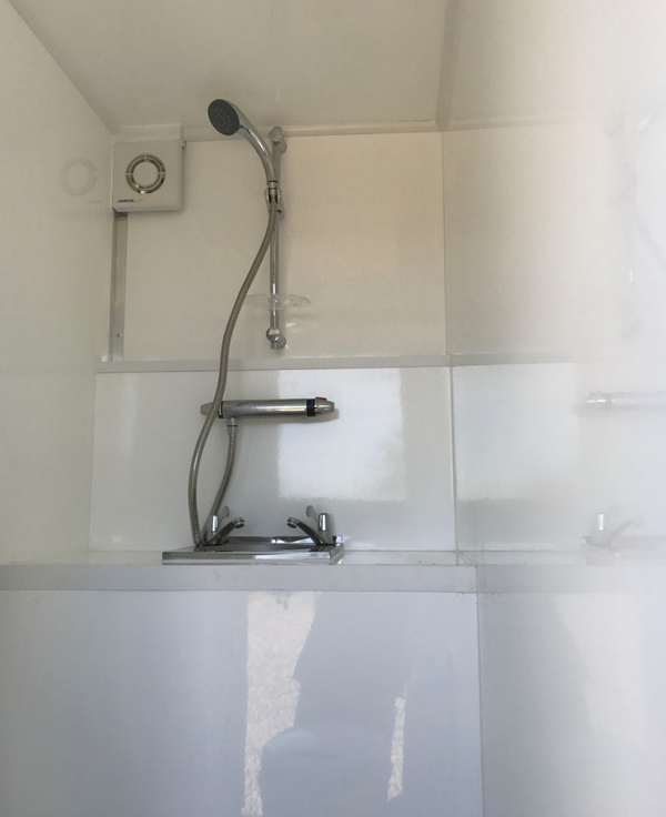 New mobile trailer with shower