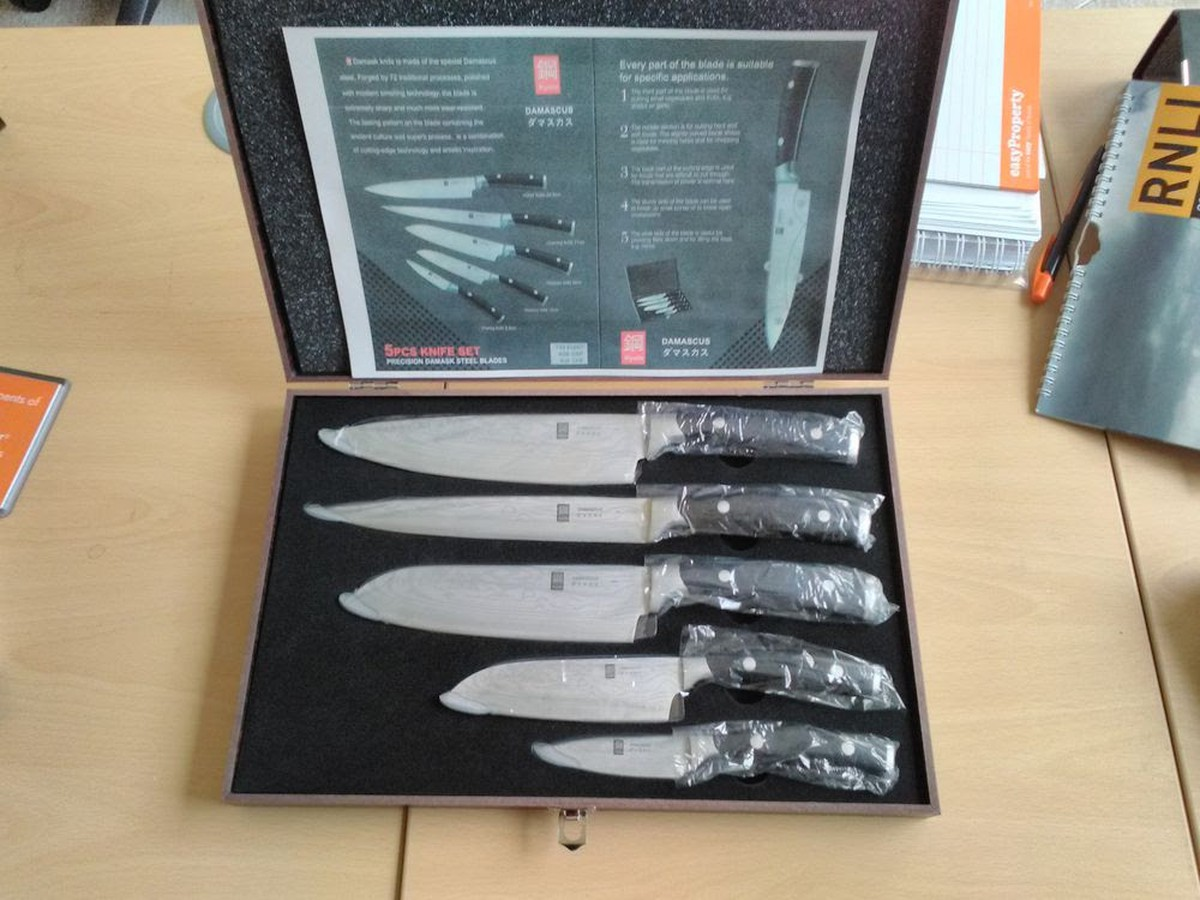 Secondhand Catering Equipment Chefs Knives Set Of Five