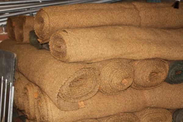Used coconut matting