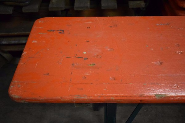 Secondhand trestle tables