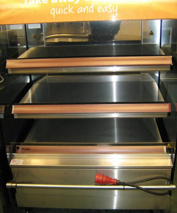 Heated food display for sale