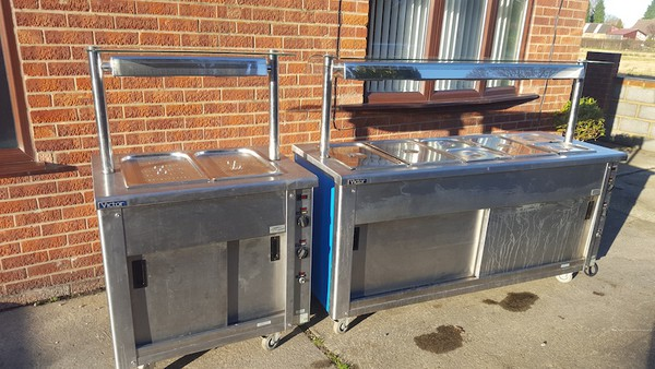 Matched Pair Wet Well Carvery / Hot Cupboard / Bain Marie / Heated Gantry