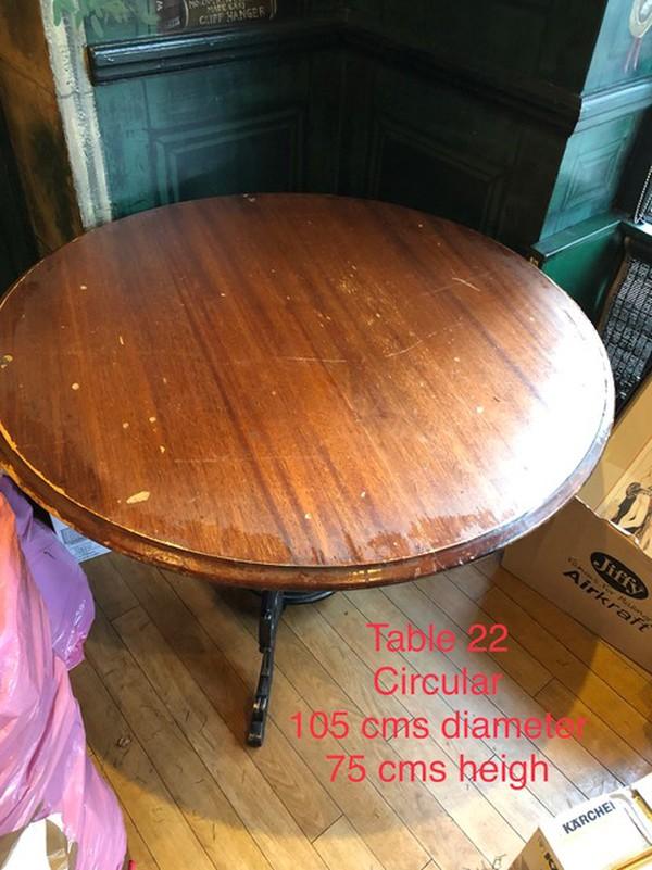 105cm round pub table